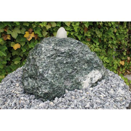 Alpi Verde Findling 300-400 mm, 32 mm gebohrt, Quellstein, Komplettset
