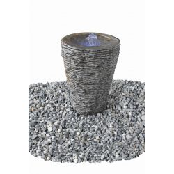 Wasserspiel Aqua-Vase, geriffelt, klein, ø 40 cm, H 60 cm, Komplettset