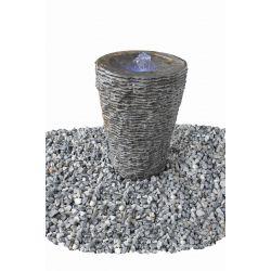 Wasserspiel Aqua-Vase, geriffelt, groß, ø 40 cm, H 80 cm, Komplettset