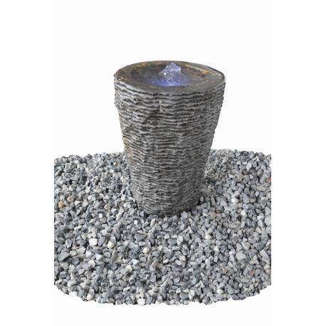 Wasserspiel Aqua-Vase geriffelt groß Kpl.-Set