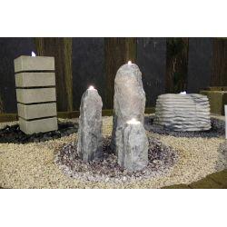 Obelisken Polar 3er Set, H 30 / 50 / 70 cm