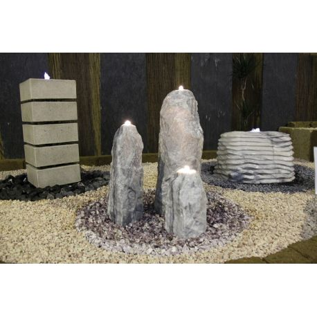 Obelisken Polar 3er Set, Komplettset H 30 / 50 / 70 cm