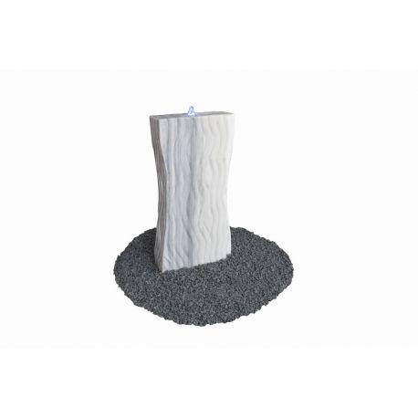 Marmor-Wasserspiel Design, grau-weiß, H 80 x B 40 x T 12 cm