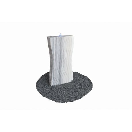 Marmor-Wasserspiel Design, grau-weiß, H 120 x B 45 x T 15 cm