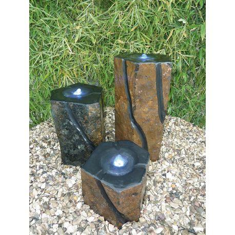 Basaltsäulen-Set Florenz, Komplettset, ø 20-30 cm, H 20 / 35 / 50 cm