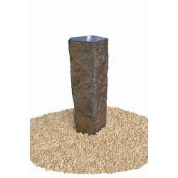 Basaltsäule Capri mit Kelch, gebohrt, Komplettset, ø 30-40 cm, H 80 cm