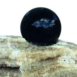Onyx-Findling mit schwimmender Kugel, Findling ø 30 - 60 cm (Kugel 20 cm)