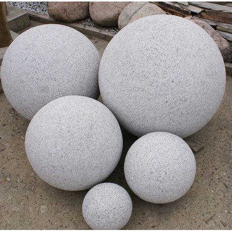 Granit-Kugel, grau, gestockt, ø 40 cm