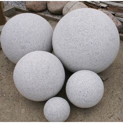 Granit-Kugel, grau, gestockt, ø 50 cm