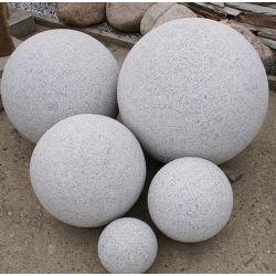 Granit-Kugel, grau, gestockt, ø 60 cm