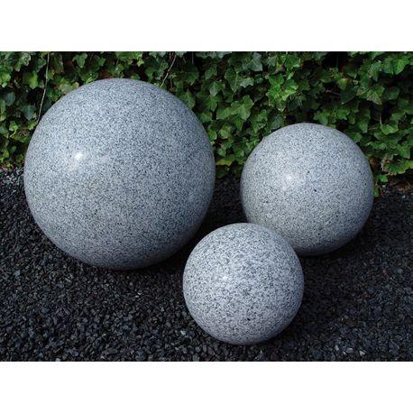 Granit-Kugel, grau, poliert, ø 20 cm