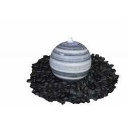 Marmorkugel, grau-weiß, poliert, ø 60 cm