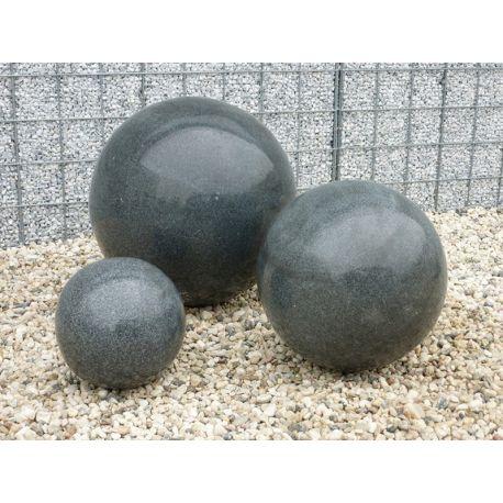 Granit-Kugel, schwarz, poliert, ø 20 cm