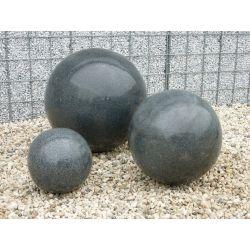 Granit-Kugel, schwarz, poliert, ø 40 cm