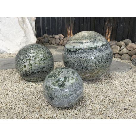 Marmorkugel, grün, poliert, ø 30 cm