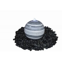 Marmorkugel, grau-weiß, poliert, ø 40 cm