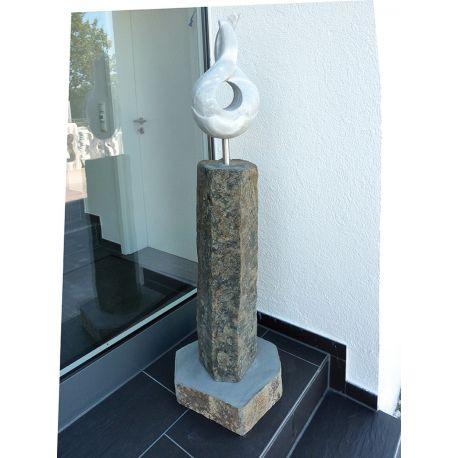Skulptur Basalt Cuba, H ca. 150 cm