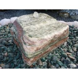 Artic Sun Findling, 300-400 mm, 32 mm gebohrt, Quellstein, Komplettset