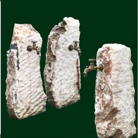 Onyx - Versorgungssäule inklusive antikem Auslaufhahn, H ca. 80 - 90 cm