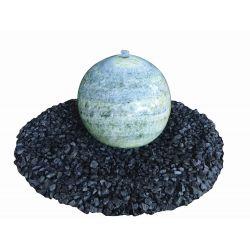 Marmorkugel, grün, poliert, Komplettset, ø 30 cm