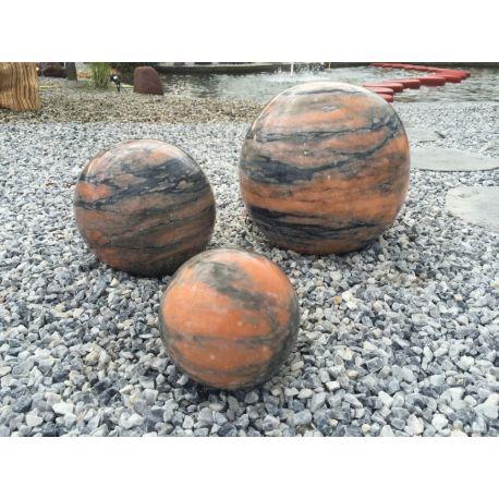 Marmorkugel, orange, poliert, ø 30 cm