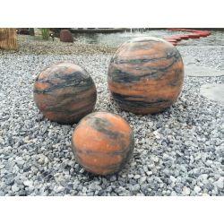 Marmorkugel, orange, poliert, ø 60 cm