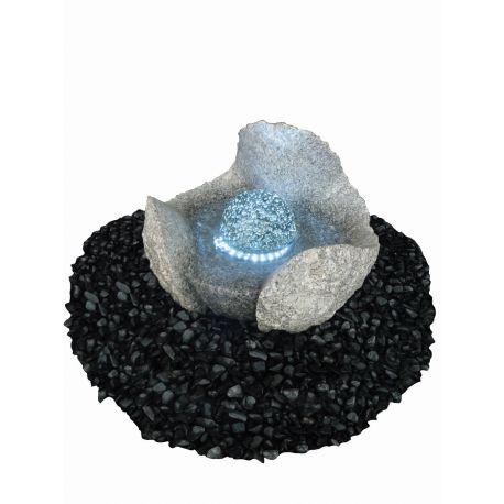 Granit-Wasserspiel Pearl inklusive LED, ø 35 cm