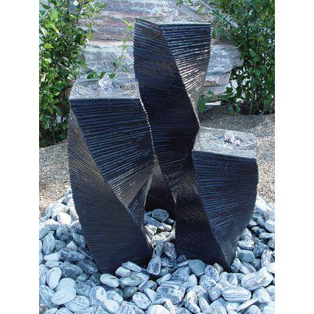 Säulensatz gedreht, anthrazit, H 55 / 75 / 95 cm, 240 kg