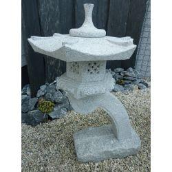 Granit Laterne Rankai, H 85 x ø 45 cm, 65 kg