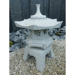 Granit-Laterne Rokkaku Yukimi, H 55 x ø 45 cm, 40 kg