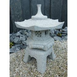 Granit-Laterne Rokkaku Yukimi, H 75 x ø 60 cm, 95 kg