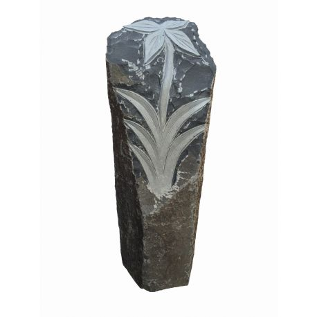 Basalt Stele Flora, H 70 - 80 cm