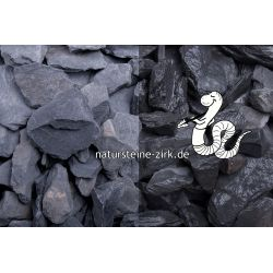 Canadian Slate schwarz 30-60 mm Sack 20 kg bei Abnahme 50 Sack