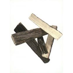 Decor Brennholz gespalten aus Keramik