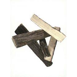 Dekor Brennholz gespalten aus Keramik