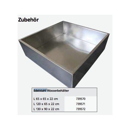 Edelstahl Wasserbehälter 65x65x22 cm