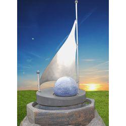 Kugelbrunnen mit Segel