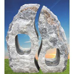 Twin Rock grau, gebohrt 8021