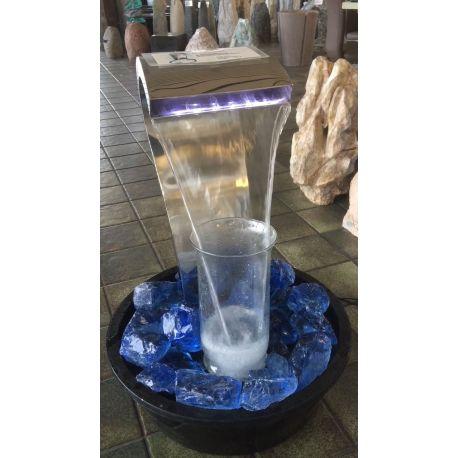 Edelstahlwasserspiel Schwanenhals 1116 mit LED