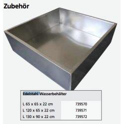 Edelstahl Wasserbehälter 120x65x22 cm