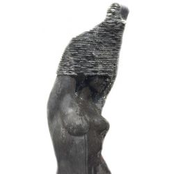 Skulptur Steinfigur Wasserspiel Black Beauty Valerie