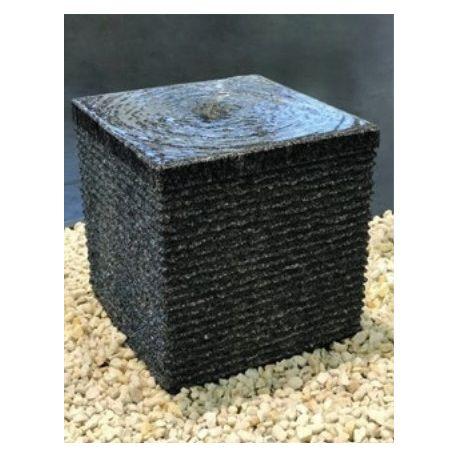 Granit-Würfel anthrazit, geriffelt, H40x40x40 cm