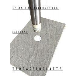 Loch für Terrassenplatten bohren - 67 mm / Preis pro cm Bohrung