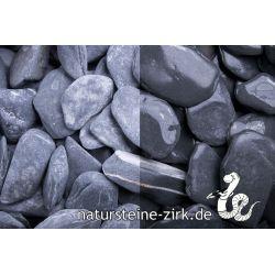 Canadian Slate schwarz getr. 30-60 mm Sack 20 kg bei Abnahme 25-49 Sack