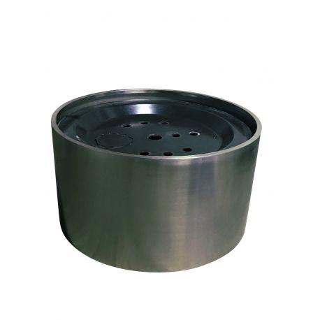 Edelstahl Umrandung H 37,5 cm, für 90 cm GfK -Becken