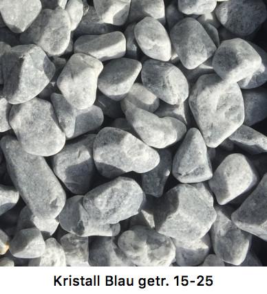 Kristall Blau getrommelt 15-25