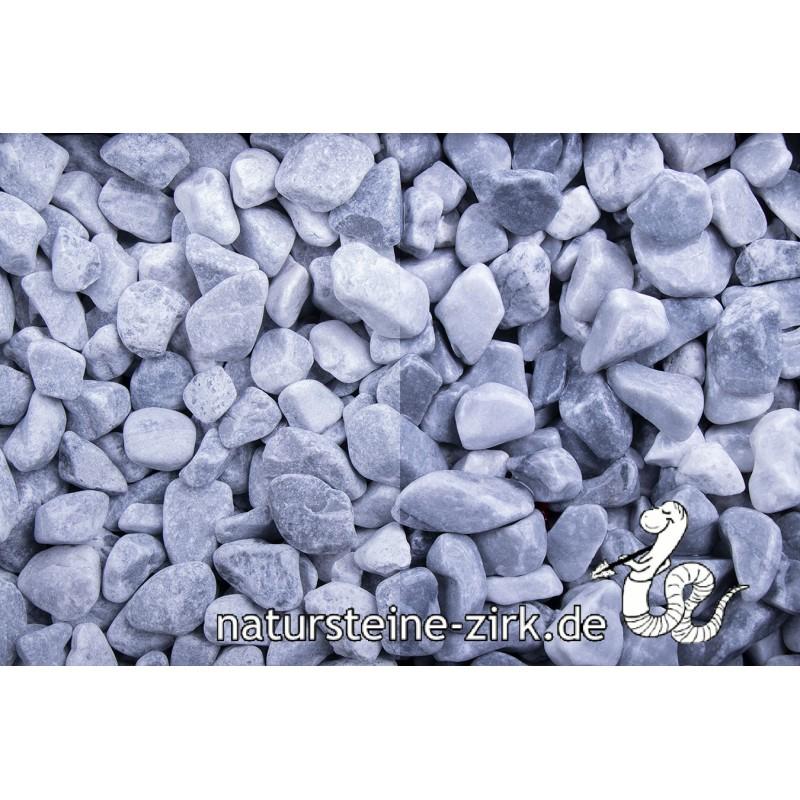 Kristall blau getrommelt 8-16