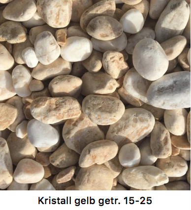 Kristall Gelb Getrommelt 15-25