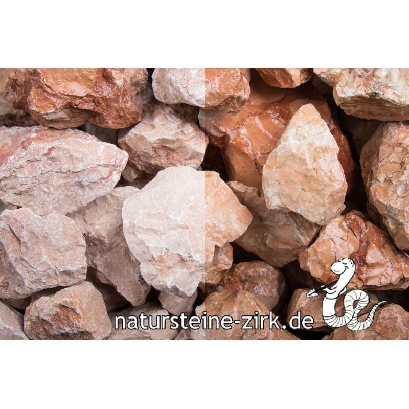 Marmor orange Steinschlag 30-60 mm