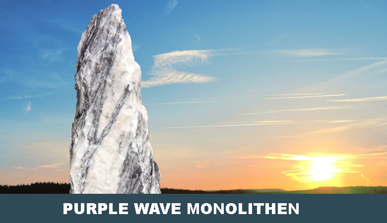 Purple Wave Findling Monolith